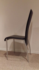 3 modern dinette chairs + stool