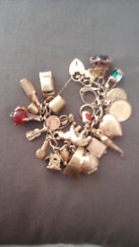 Vintage Charm Bracelet with 23 Charms