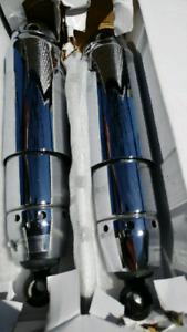 Chrome shocks from harley davidson fatbob dyna