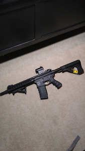 G&G Cm16 Srl with Sight and Grip, Battery, Charger, 7500 BBs