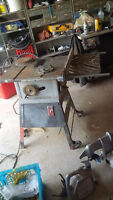 Table saw: belt driven and cast iron top, on wheels (DELIVERY)