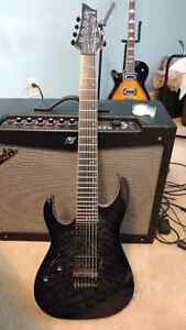Left handed 7 string schecter banshee with passive pickups