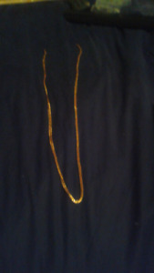 Stamped 18k gold chain