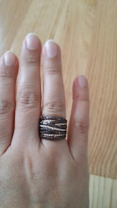 925 Silver on gold plated Topaz ring moving sale.