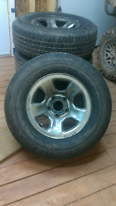 """17"""" Rims and Tires 265/70/R17"""