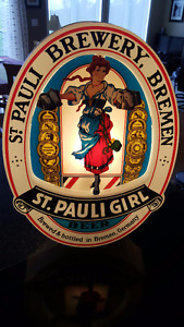 St. Pauli Girl Beer Sign