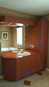 Meuble lavabo. Mėlamine brun rouge. Très propre.