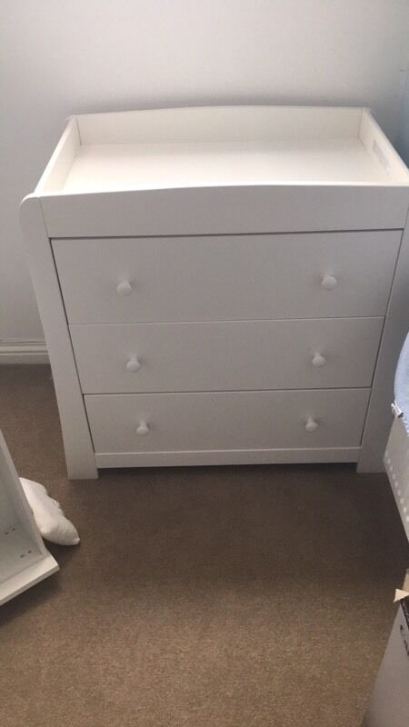 Mamas And Papas Mia Ivory Changing Unit And Chest Of Drawers