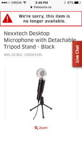 Nexxtech microphone with detachable stand
