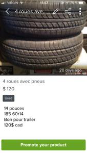 4 pneus et roues