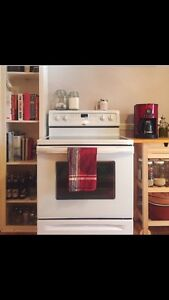 Whirlpool Electric Convection Range / Glass-top (white)