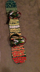 Snow board(158 cm), bindings and Dakine bag