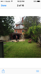 Main floor renovated duplex with garage and fenced yard!!