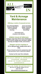 Lawn Care and Acreage Maintenance