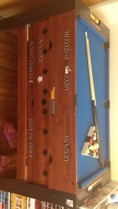 Kids pool table. With other storage