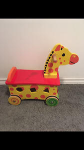 Wooden Giraffe sit and ride