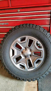 Jeep Rubicon Rims/Tires 5 total
