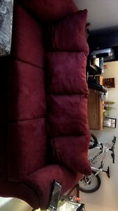 Red mirco memmory foam couch