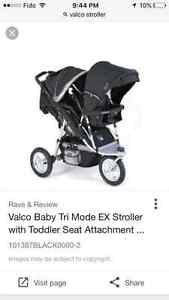 Valco single stroller with joey seat