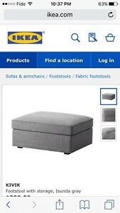 ISO - Kivik Storage Ottoman from Ikea in this grey Strathcona County Edmonton Area image 1