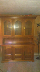 Solid wood Hutch with Display case