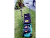 Challenge petrol lawnmower