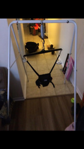 Like new, perfect condition. Jolly Jumper with stand