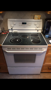 Whilrpool Gold ceramic top stove and Fridge