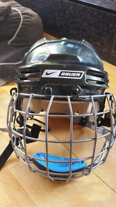 Bauer NBH4500S Kids/Youth Hockey Helmet with Facemask/Cage - Sup