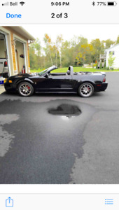 2004 Ford Mustang Black Convertible