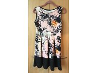 Quiz Clothing Size 12 floral print skater style dress.