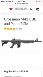 Selling my pellet /bb gun m4 pump from Canadian tire