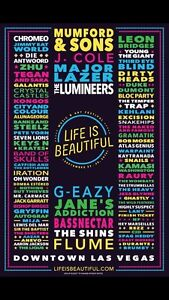REDUCED Life is Beautiful Music Festival 3 day GA