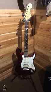 American Made Fender Strat Electric Guitar and Fender Amp