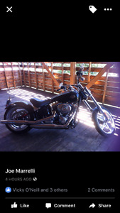 Harley Davidson 2009 Soft tail Rocker C with very low km's