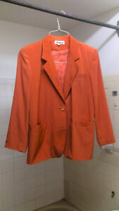 Women's Size 12 Elegant Orange Jacket