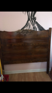 Moving Sale: Antique headboard, bed, couch, desk, chair, mirror