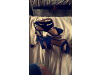 blue heels, miss Selfridges