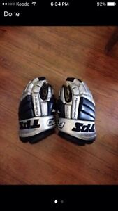 L.A. Kings Pro Stock TPS R10 Hockey Gloves -Size 14