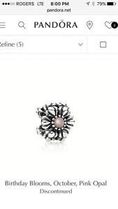Pandora October Birthstone Flower Charm