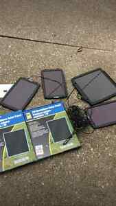 Collection of 6 solar panels - 2 new in the box still