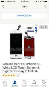 Replacement for iPhone 5 white LCD replacement screen