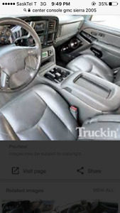Full console and leather seats for a 2004 GMC Sierra