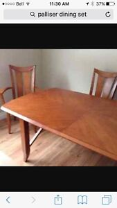 Solid wood table with leaf and 6 chairs Strathcona County Edmonton Area image 3