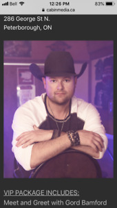 Gord Bamford tickets for the Venue in Peterborough December 11th