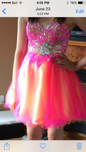Strapless Graduation Dress