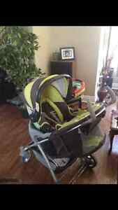 Eddie Bauer stroller and car seat combo with base