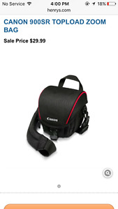 Camera bag FITS BODY ONLY read discription