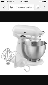 KitchenAid stand mixer.