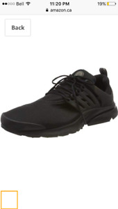 Nike Air Presto, Essential Black size 12